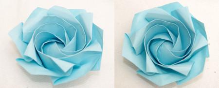 6角形から折る1分ローズ