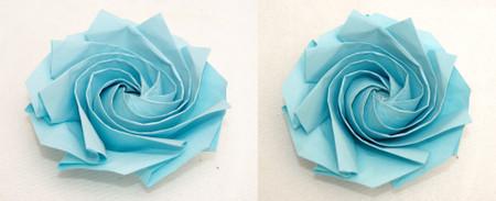 8角形から折る1分ローズ