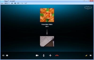 Skype(TV電話)で接続