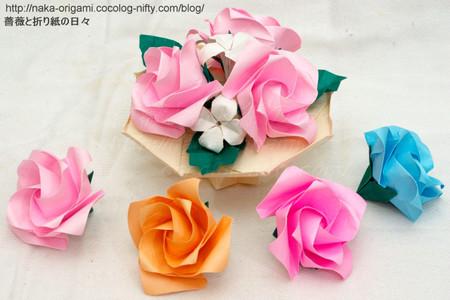 鶴の基本形から折る「やさしいバラ」講習のお知らせ