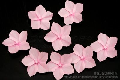折り 折り紙 折り紙 桜 作り方 : naka-origami.cocolog-nifty.com