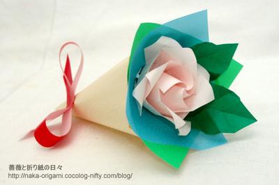 簡単なバラの花束