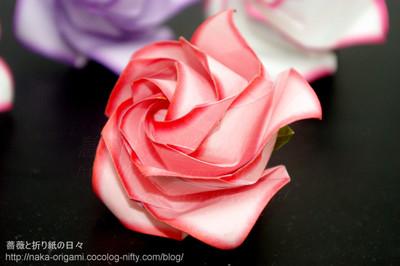 簡単 折り紙:バラの折り紙-naka-origami.cocolog-nifty.com