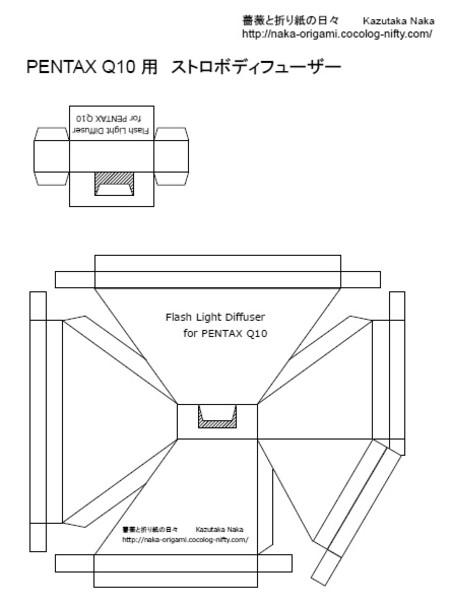 Q10用ストロボディフューザー印刷用PDF