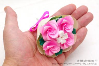 手のひらサイズのK1ローズの花束