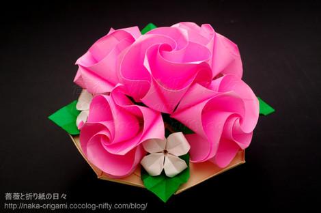 C1 ローズのテーブル花