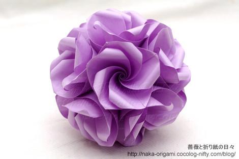 バラのくす玉(U6-30)