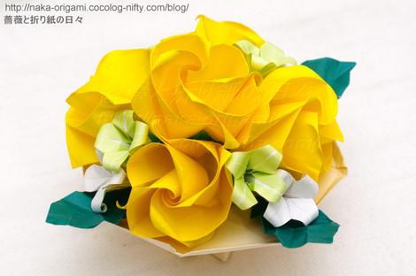 M.K さん製作「バラ(C1)のテーブル花」(創作:中 一隆)