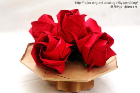 バラのつぼみのテーブルフラワー