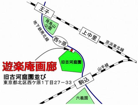 折り紙作品展地図