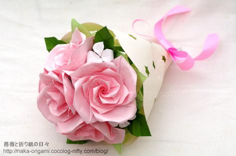 バラ(U5-4)の花束 創作:中 一隆