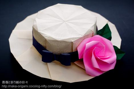 帽子と花飾り
