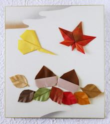 折り紙でつくる秋の色紙飾り 講師:川崎亜子氏 朝日カルチャー湘南教室