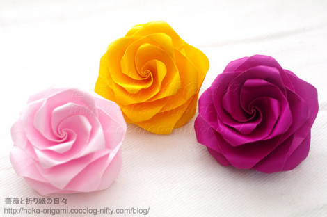 たとう折りの薔薇(T1) 創作:中 一隆