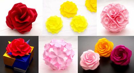 「花の折り紙」朝日カルチャー横浜教室(ルミネ横浜8F)