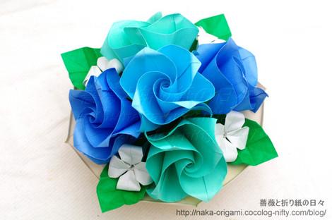 バラ(C2)のテーブル花 創作:中 一隆