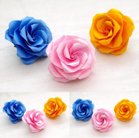 たとう折りの薔薇 創作:中一隆