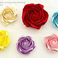 5角形から折る川崎ローズ「薔薇」(2)