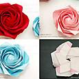 5角形から折る川崎ローズ「薔薇」(3)