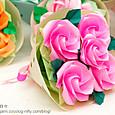 バラの花束-3(ねじり折りバードベースローズ)