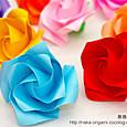 新しいバラ(ねじり折りバードベースローズ)_2