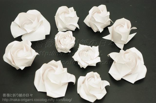 さまざまな折り紙のバラ(2)