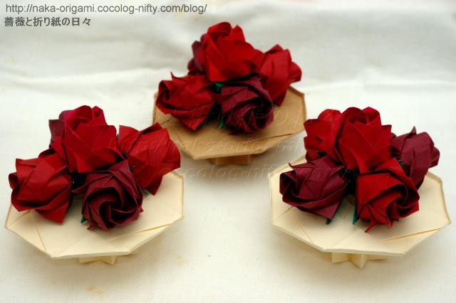 バラのつぼみのテーブル花