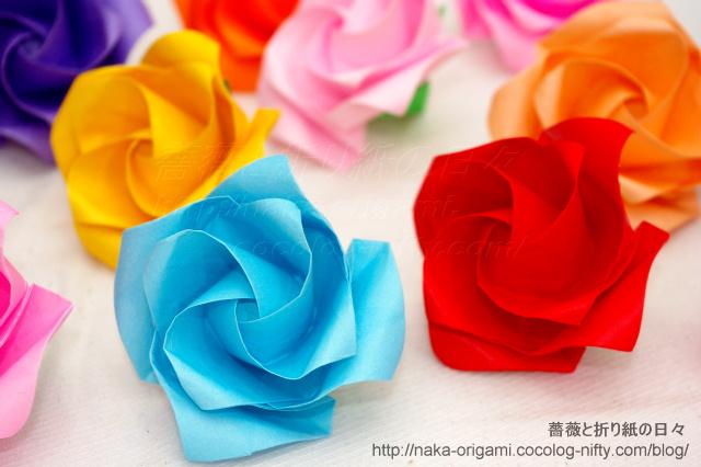 新しいバラ(ねじり折りバードベースローズ)
