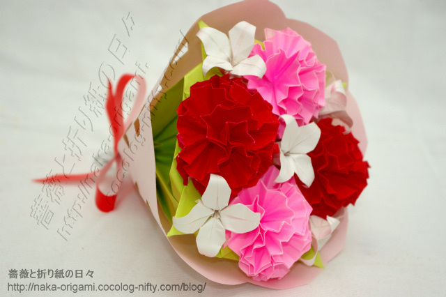 カーネーションの花束-(4)