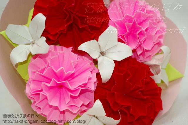 カーネーションの花束-(2)