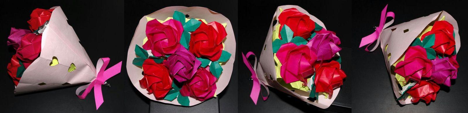 すべての折り紙 折り紙 バラの花束 : 川崎ローズのブーケアレンジ ...