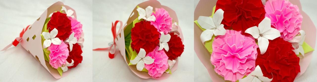 ハート 折り紙 折り紙 花 カーネーション : naka-origami.cocolog-nifty.com