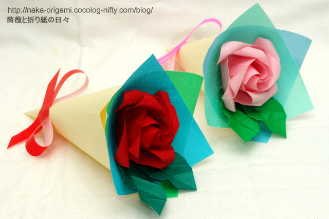 1輪の小さなバラの花束