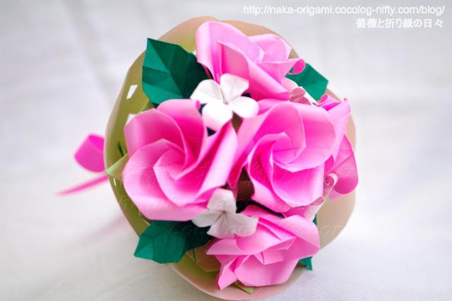 すべての折り紙 花束 折り紙 折り方 : ... 花束 ブーケの作り方・折り方