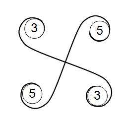 20・12面体の4枚羽ユニットによる組み方