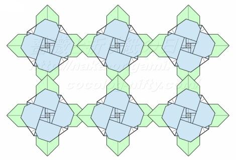 平面のバラ(創作:中 一隆)の応用