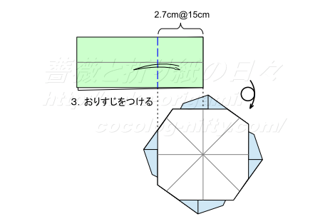 平面のバラ 創作:中 一隆 葉っぱ 手順3
