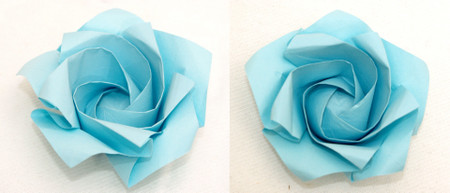 5角形から折る1分ローズ