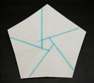 内周花弁の尾根ライン(青)を中心に延長する