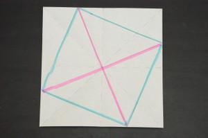 傾いた正方形の対角線
