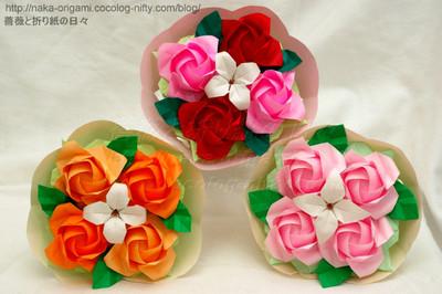 初代川崎ローズ「ひらいたバラ」の花束
