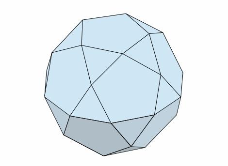 20-12面体のモデル