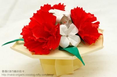カーネーションのテーブル花