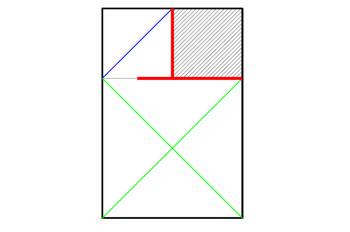 ユリ+鶴一羽の用紙配置