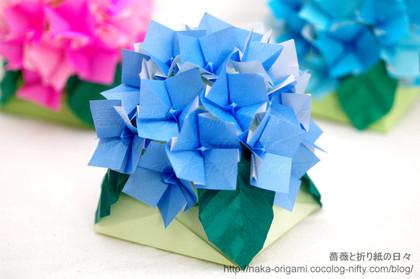 アジサイのテーブル花