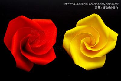花芯構造をTypeK(巡回中割折り)に変更した父の日のバラ