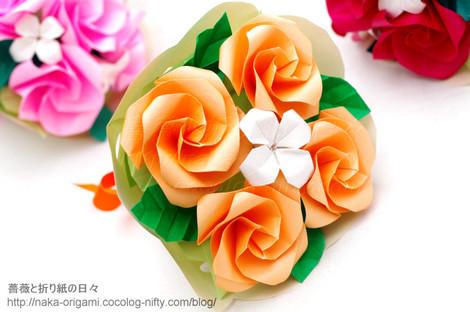 K+花芯のバラの花束アレンジ