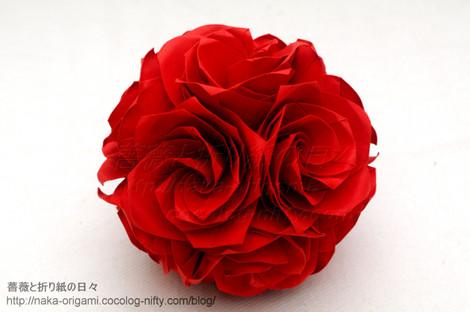 薔薇のくす玉U4-30