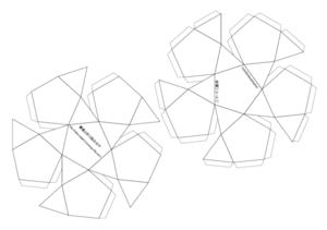20・12面体モデルの展開図