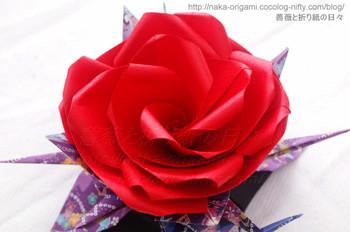 薔薇と鶴の飾り